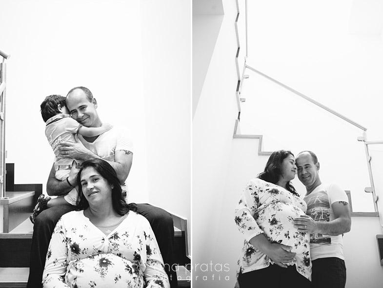 Familia à espera de bebé