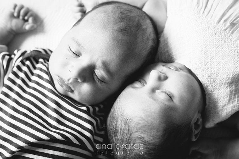 Gémeos recém-nascidos