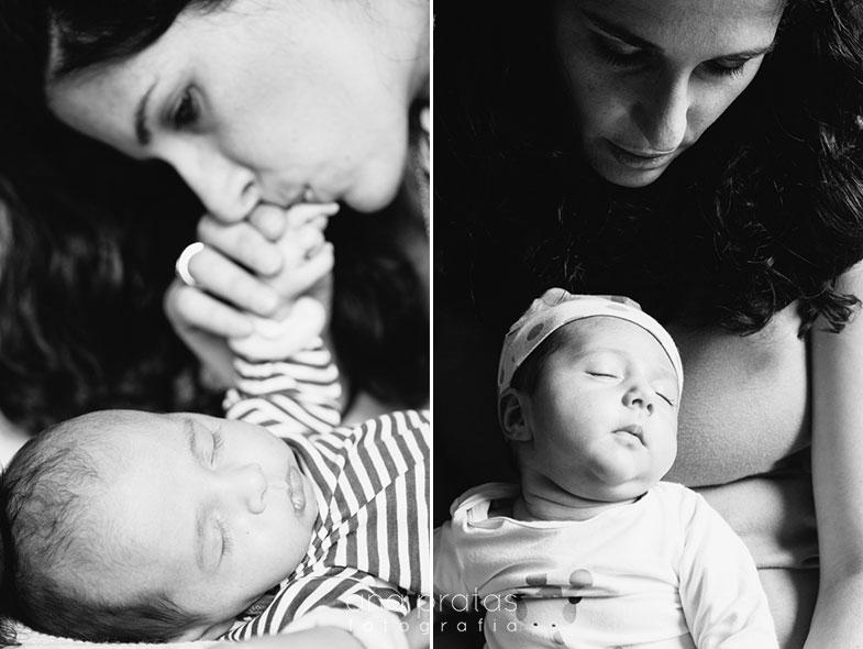Mãe com os seus bebés