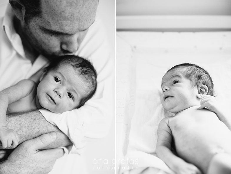 Pai com bebé recém-nascido
