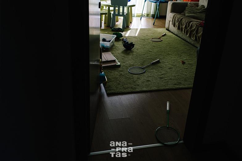 casa de uma familia durante uma sessao fotografica documental