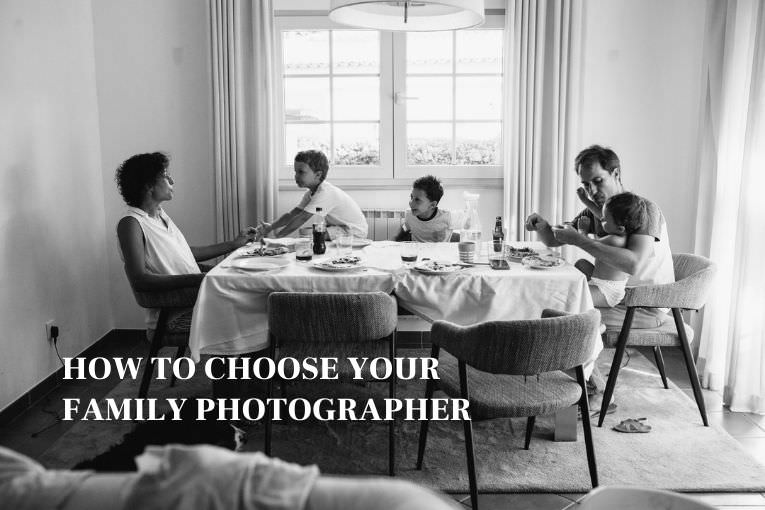family of 5 at dinner table