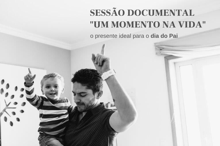 """sessão documental """"um momento na vida"""", pai e filho de dedo no ar"""